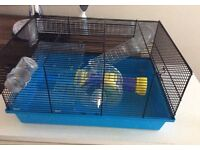 Hamster cage, carry box and other accessories
