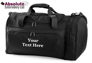 Personalised-Holdall-Travel-Sports-Kit-Gym-Bag-Your-Name-Team-Quadra-QD74