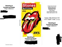 1 x Rolling Stones STANDING ticket - Tues 22nd May
