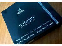 NEW ROYAL DOULTON PLATINUM PORCELAIN 4 PLACE SETTINGS (20 PIECES) 4 COFFEE CUPS 4 SAUCERS TEDDINGTON