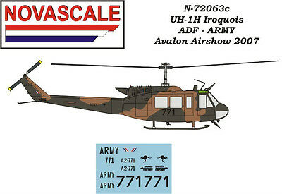 ADF UH-1H Huey Mini-Set Decals 1/72 Scale N72063c for sale  Shipping to United States