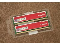 Kingston Red 2 x 4Gb DDR3 1333Mhz