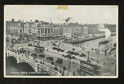 IRELAND 1953 PPC OCONNELL BRIDGE + TRAMS etc