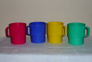 4 colorful Stackable Cups .. Not breakable:Clean:SmokeFree Cambridge Kitchener Area image 2
