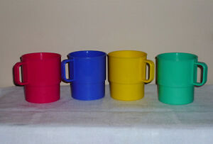 4 Stackable Cups .. Not breakable! ... Colorful