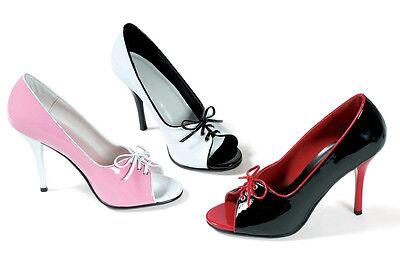 Women's Sexy Heels - Ellie  411-Mimi 4inch Open Toe Classic Pump Pink ()