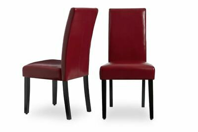 NEW Faux Leather Red Kitchen Dining Chairs Set of 2 Bar Table Durable Cheap