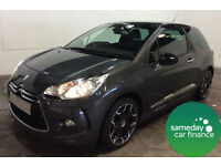 £171.95 PER MONTH GREY 2014 CITROEN DS3 1.6 E-HDI A/D STYLE PLUS 3 DOOR
