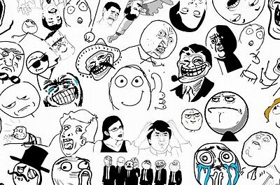 EH0727 Internet Memes Collection Trollface Me Gusta Yao Ming 36×24 POSTER Print