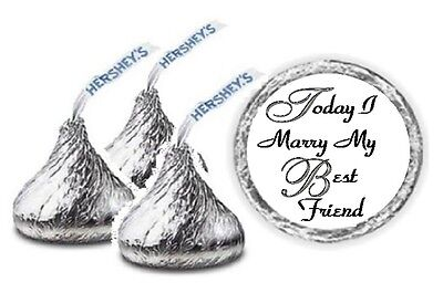 108 Personalized Today I Marry My Best Friend Wedding Hershey Kiss Candy Labels ](Marry My Best Friend)