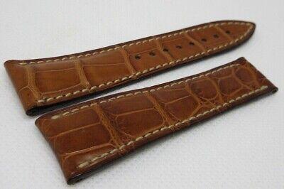 Blancpain 20mm Brown Alligator Strap OEM Genuine Short Size XS