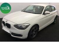 £234.89 PER MONTH WHITE 2013 BMW 114 1.6i SPORT 3 DOOR PETROL MANUAL