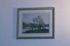 ~~## Jean-Baptiste Corot: Ville D'Avray - framed & mounted colour print ##~~