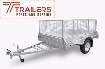 New Galvanised Box Tipping Trailer 7x5 300mm sides and 600mm cage Currumbin Waters Gold Coast South Preview
