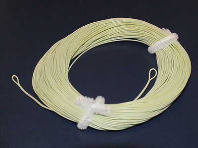 FLY LINE Weight Forward Floating 3WT Loops at each end, Moss Green 100' LN510 (Weight Forward Floating)