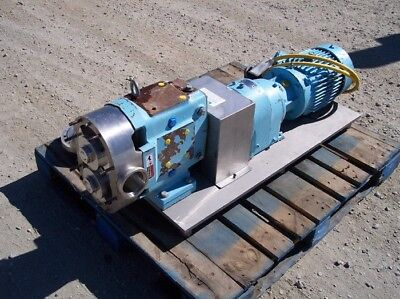 Waukesha Model 130 Positive Displacement Pump Ss Base 5hp 84 Rpm