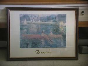 LARGE RENOIR PRINT IN FRAME BEHIND GLASS Yanchep Wanneroo Area Preview