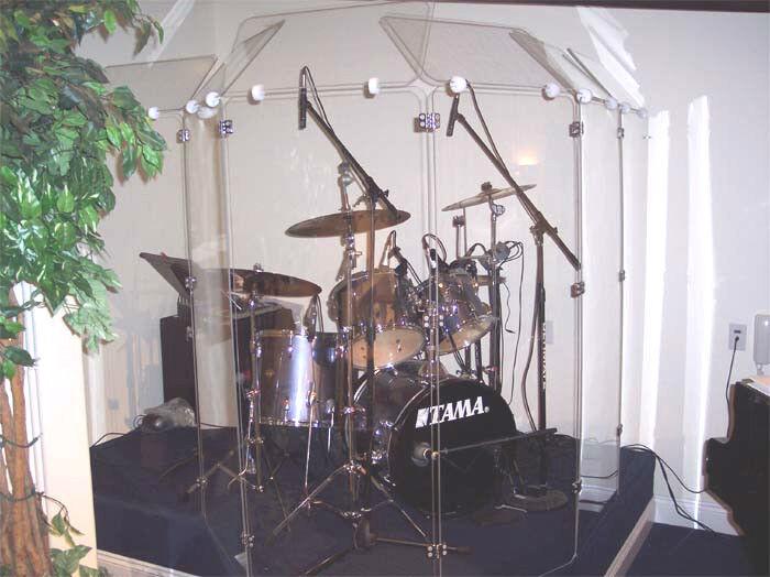 Drum Shields  Drum Screens  Drum Shield DS5D CHROME hinges