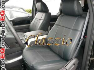 Clazzio Synthetic Leather Seat Covers (Front + Rear Rows) | 2015-2019 Ford F150