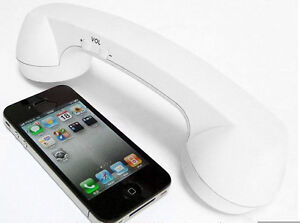 Retro Telephone Handset Design - 3.5mm Cell Phone Receiver for Mac iPhone4