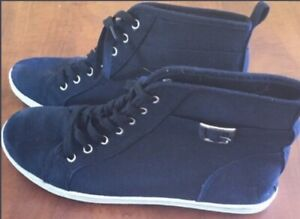 **LADIES BLACK HIGH TOP SNEAKERS FOR SALE-SIZE 10**