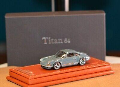 MakeUp Titan 64 TM001B Singer 911 (964) Coupe Gray 1/64 (RCSKY)