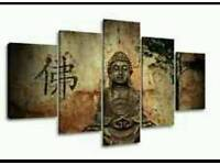 Canvas buda pictures x 5