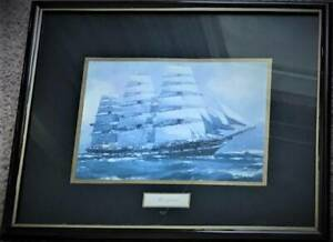 Set of 4 framed prints of SQUARE RIGGER SAIL SHIPS