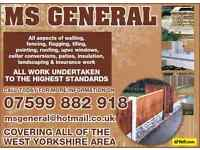 MS GENERAL. walling, decking & fencing, flagging, pvc windows, concreting ,landscaping, insulation,