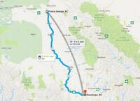 Ride available from Prince George to Kamloops on Fri, Jul 29 at