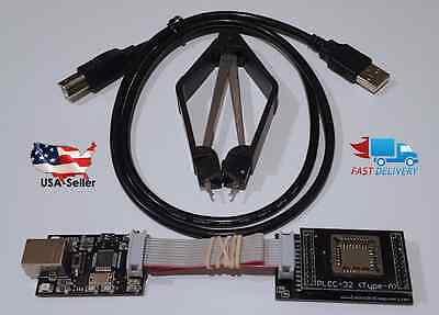 New Usb 2.0 Bios Eeprom Flash Programmer And Plcc32 Adapter Winbond Sst