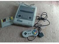 REDUCED PRICE SNES Super Nintendo Fully working with controller and Super Mario Game