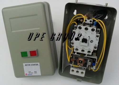 Magnetic Motor starter control w/ Push Button on/off 5hp 1ph 230v  34 amp