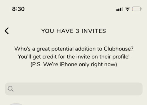 Clubhouse App Invite - IOS Only - $50.00