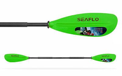 LIGHTWEIGHT KAYAK + CANOE PADDLE / OAR (SFPD2-06} GREEN (2 pc paddle) dinghy
