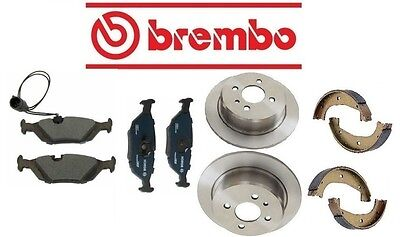 BMW E30 325i 1987-1993 Rear Brake KIT With Rotors & Pads Parking Shoes Premium