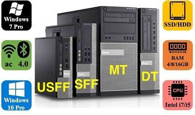 Dell Optiplex 790 990 Business Gaming Desktop Computer PC MT DT SFF USFF