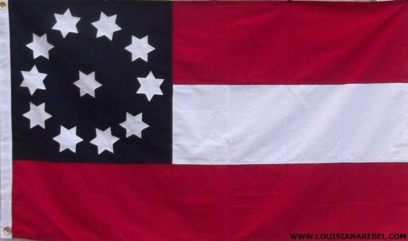 2ND GEORGIA HEAVy COTTON 3 FEET X 5 FEET CIVIL WAR FLAG - CSA - FREE SHIPPING