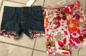 New with tags shorts 4t & 5t