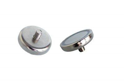 10 Stück D25mm - NeodymFlachgreifer Topfmagnet mit Gewinde - NiCuNi Restposten