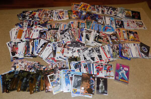 OVER 600 ASSORTED NHL, NFL, MLB, DESERT STORM, MARVEL CARDS