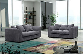 **7-DAY MONEY BACK GUARANTEE!** - Desmond 3 and 2 Italian Cord Sofa Set- SAME/NEXT DAY DELIVERY!
