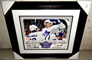 AUSTON MATTHEWS MAPLE LEAFS 4 GOAL NHL DEBUT 16x20 FRAMED/MATTED