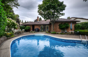 Grand River North Bungalow with Pool on Quiet Crescent