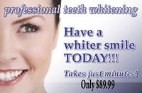 Teeth Whitening Special **NOW $89.99 Reg $160.00 In Chair