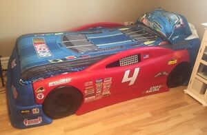 Race car bed and toy box