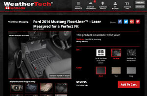 2014 Ford Mustang Weather tech digital fit floor liners $100.00