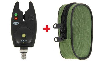 NGT elektronischer Bissanzeiger VX-1 mit Sounderbox Anschluss inkl. Tasche Sounder-box