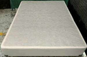 Excellent white fabric Sealy brand queen bed base only for sale #1