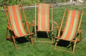 "Vintage classic  ""deck chairs"" from the 1930's"
